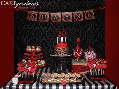 Red & Leopard Dessert Bar