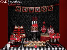 Red & Leopard Dessert Bar