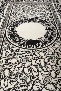 Pantheon rug design Studio Job. 200 knots per square inch in 100% woll . handmade rug in Nepal in limited edition in 10 pieces