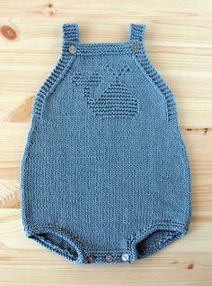 Free Knitting Pattern for Whale Baby Romper - Cute onesie with whale motif in knit and purl stitches. Sizes 1/3 months. Available in English and Portuguese Designed by Filipa Carneiro