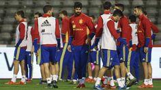 Suspendido el Bélgica - España