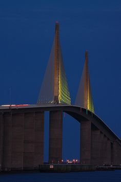 Sunrise Over The Sunshine Skyway Bridge By Donsullivan Travel - What is the time now in florida