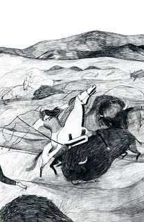 Illustration from Hoka Hey, PratiBianchi Edizioni, 2013