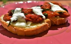 I love sharing food like the Italians - bruschetta in Toscany