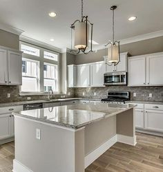 Beautiful White Cabinets + Grey Backsplash Kitchen In Eagan, Minnesota By D.R.  Horton #FindYourHome | D.R. Horton Homes: Minnesota | Pinterest | Grey ...