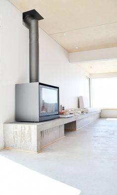 LG FW Holsbeek lowres 17 - Home Interior Design - Stûv by Bertin Bichet Architectes - House Design, Home Living Room, Interior, Home, Home Fireplace, Wood Fireplace, Fireplace Design, House Interior, Home Interior Design