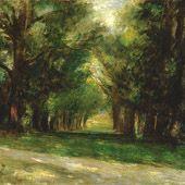 Entrance to General Hély d'Oissel's Estate - Auguste Renoir, 1880