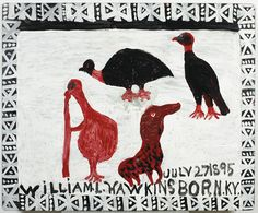 William L. Hawkins, Four Birds, 1989