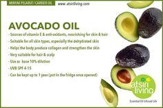 Avocado oil Hair Scalp, Carrier Oils, Avocado Oil, Collagen, Vitamins, Fruit, Food, Collages, Essen