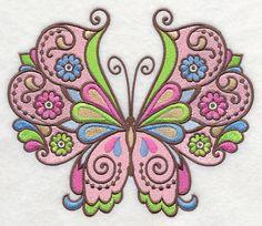 Flutterby Fashion 2 design (K8572) from www.Emblibrary.com
