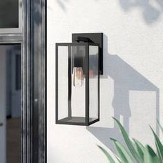 New Brianna Matte Black 1 - Bulb H Outdoor Wall Lantern by Foundstone. Lighting Home Decor Furniture Outdoor Barn Lighting, Outdoor Wall Lantern, Outdoor Walls, Modern Exterior Lighting, Entry Lighting, Garage Lighting, Patio Lighting, Sconce Lighting, Outdoor Areas