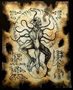 cthulhu larp NYARLATHOTEP RITUALS Necronomicon demon by zarono