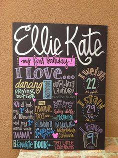 Custom Hand-Painted 15x20 Birthday Poster party photo shoot prop senior graduation engagement wedding shower on Etsy, $65.00