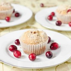 Cranberry Eggnog Muffins - perfect treat for a Christmas brunch!