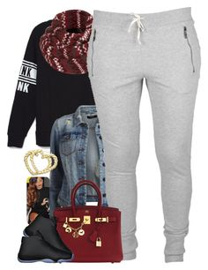 """""""Untitled #1464"""" by power-beauty ❤ liked on Polyvore featuring Victoria's Secret, VILA, Topshop, Hermès and H.I.P."""
