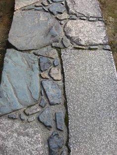 Mirei Shigemori - rebel in the Japanese garden Garden Paving, Garden Stepping Stones, Garden Paths, Asian Garden, Chinese Garden, Stone Path, Brick And Stone, Stone Road, Stone Tile Texture