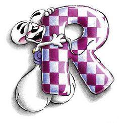 Alfabeto Diddl lettera R