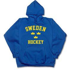 SWEDEN HOCKEY TRE KRONOR crowns/cronor Swedish hoodie/hooded sweatshirt 2XL