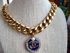 Chanel Logo Vintage RePurposed Button 18K Gold by CelebrityTrendz, $109.00
