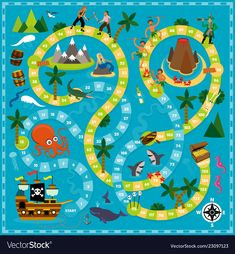 You are in the right place about disney Board Games Here we offer you the most beautiful pictures about the retro Board Games you are looking for. When you examine the part of the picture you can get Board Game Template, Printable Board Games, Pirate Games, Pirate Theme, English Games For Kids, Board Game Design, Paper Games, Board Games For Kids, Game Art