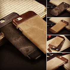 Leather&Canvas Case @1199/- Brown and Black colour.Available for all Mobiles/Models