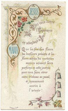 Antique French Goldprint Holy Prayer Card God by 12StarsVintage