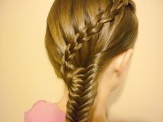 Scissor Waterfall Braid & Fishtail Combo Hairstyle - YouTube