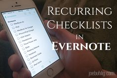 Recurring Checklists in Evernote Home Management Binder, Time Management Tips, Evernote Template, Computer Help, Computer Tips, Software, Macbook Air, Stylus, Just In Case