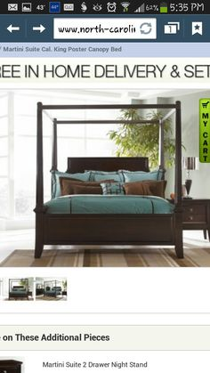 Ashley Millennium   Martini Suite King Poster Bed With Canopy