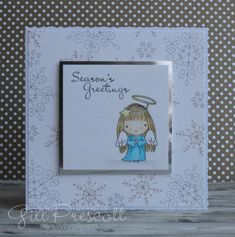 Fairy Christmas card for challenge Stampin Up Christmas, Christmas Cards, Team Page, Beaded Boxes, Cute Fairy, Christmas Fairy, Shaker Cards, Paper Background, Paper Piecing