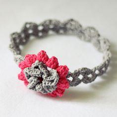 Crochet PATTERN (pdf file) - Cherry Blossom Headband (sizes - baby to adult). $2.99, via Etsy.