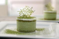 Green Tea Ice Cream Cake Recipe - I must have this in my life (and my mouth) immediately.