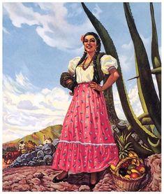 Vintage Mexican Pinup Art — Portraits by Santiago Mexican Artwork, Mexican Folk Art, Mexican Pictures, Jesus Helguera, Arte Latina, Calendar Girls, Fashion Wall Art, Classical Art, Pin Up Art