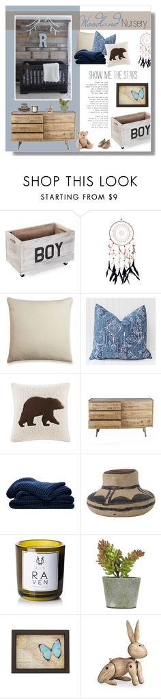"""""""// 1286. Woodland Nursery."""" by lilymcenvy ❤ liked on Polyvore featuring interior, interiors, interior design, home, home decor, interior decorating, The Linen Works, Woolrich, Sheridan and Ellis Brooklyn"""