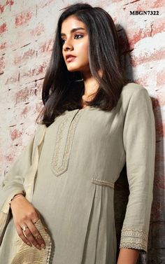 Sage Green Cotton Suit Set with Intricate Embroidery Online Shopping For Ethnic … Simple Kurta Designs, Kurta Designs Women, Salwar Designs, Sleeves Designs For Dresses, Dress Neck Designs, Blouse Designs, Kurti Embroidery Design, Kurta Neck Design, Kurti Designs Party Wear