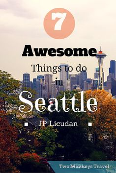 7 Awesome Things to Do in Seattle, Washington. Seattle is a coastal city at the Pacific North West of the United States. Made famous by TV series and movies shot in this city such as: Grey's Anatomy, Sleepless in Seattle and Fifty Shades of Gre Seattle Vacation, Seattle Travel, Seattle Sights, Visiting Seattle, Seattle Food, Vacation Spots, Washington State, Seattle Washington, Travel Goals