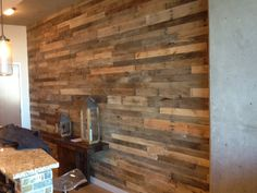 10X15 Wall at the encore covered with reclaimed wood.