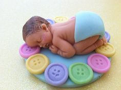 fondant baby/ edible/ baby shower/ party favors/ cake topper/ cupcake topper/ boy/ girl/ nude baby, fondatn buttons