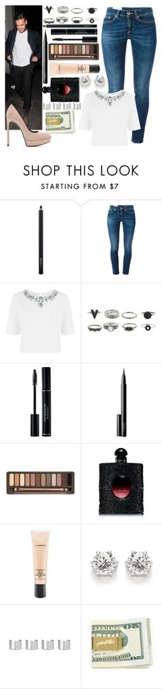 """""""Night with Liam"""" by tutu-81 ❤ liked on Polyvore featuring MAC Cosmetics, Dondup, Warehouse, NARS Cosmetics, Urban Decay, Yves Saint Laurent and Maison Margiela"""