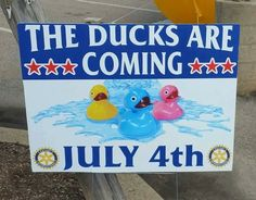 #Rotary duck race tickets are available at the museum. Only $5 each this year!! Great #fundraiser!!