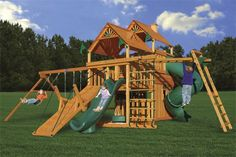 Hunter's Hideaway Large Swing Set from PlayNation #kids #swingsets #diy