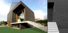 Woning in Hulste - Zijaanzicht + achteraanzicht van het huis.