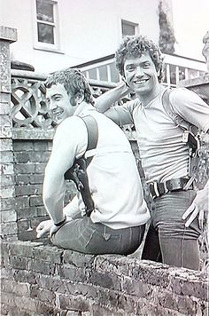 Bodie and doyle - closest shot I can find which has Martin Shaw's bum in it!