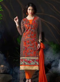 #Dazzling Long Length Cotton Salwar Kameez