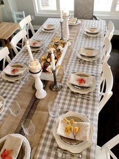Gingham Tablecloth, Tablecloth Sizes, Oval Tablecloth, Tablecloths, Thanksgiving Table Settings, Thanksgiving Tablescapes, Thanksgiving 2020, Thanksgiving Decorations, Indoor Christmas Decorations