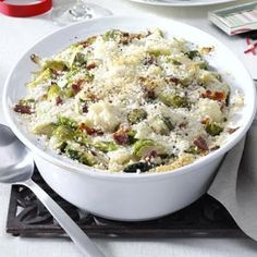 Brussels Sprouts & Cauliflower Gratin Recipe from Taste of Home