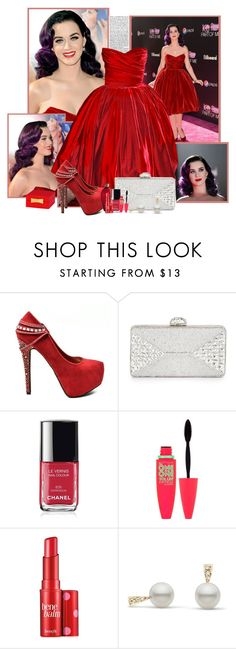 """Katy Perry"" by rfultrastars ❤ liked on Polyvore featuring Judith Leiber, Chanel, Maybelline, Benefit and Kate Spade"