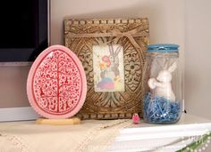 Easter Mantel Ideas with Cost Plus World Market - The Scrap Shoppe >>  #WorldMarket Easter Style Hunt Sweepstakes. Enter to win a 1K World Market gift card.