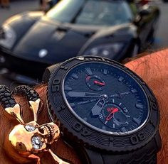 StingHD and a Ulysse Nardin! Oh can't forget about the Koenigsegg. #StingHD #HenryDesigns #UlysseNardin #Koenigsegg www.StingHD.com