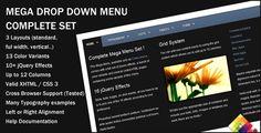 jQuery tabbed drop down menu set